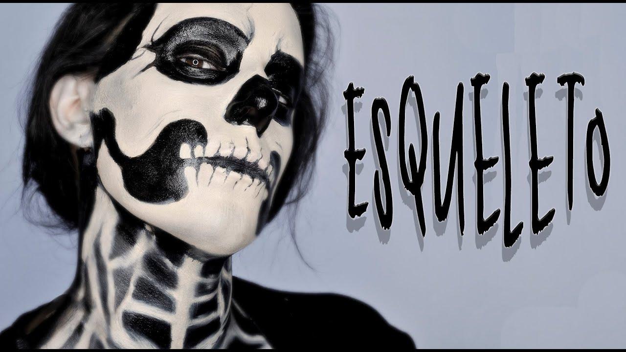 Maquillaje Halloween Esqueleto tutorial Makeup FX 52