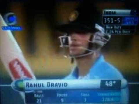 Rahul Dravid 50 in Just 22 Balls Amazing Innings !