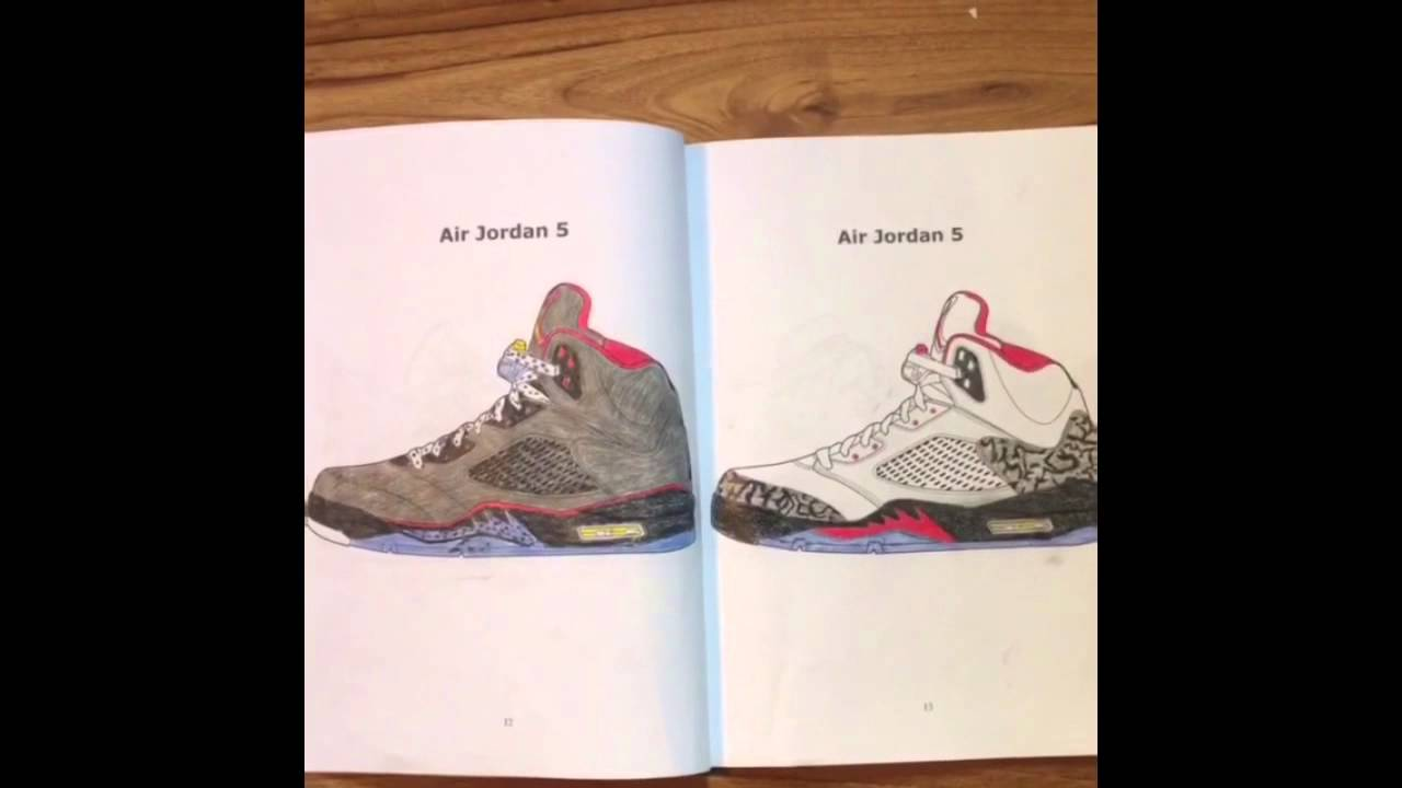 air jordan coloring book youtube