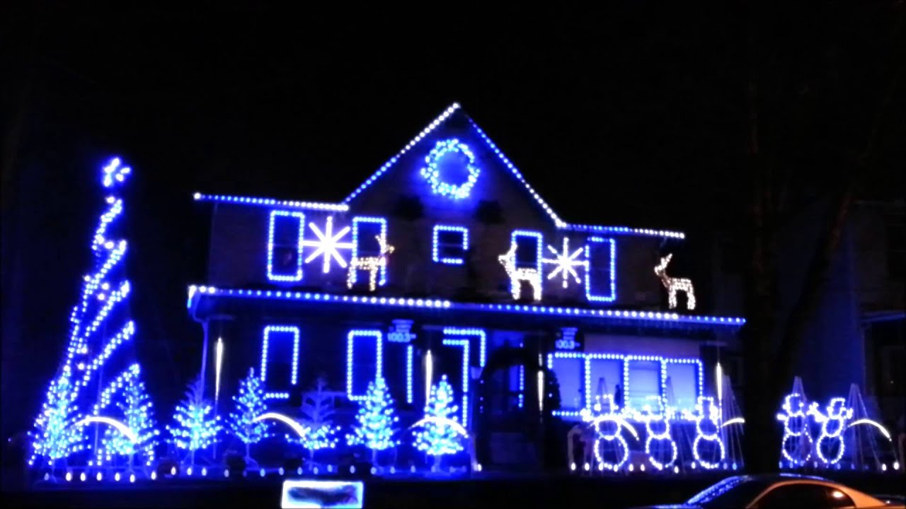 blue christmas by elvis christmas lights 2015
