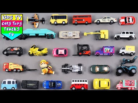Learn City Vehicles For Kids Children Toddlers Babies With Taxi Bus Race Car | Kids TV Preschool