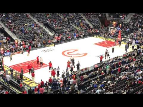 The Best NBA Team Intro---Atlanta Hawks vs San Antonio Spurs 1-1-2017