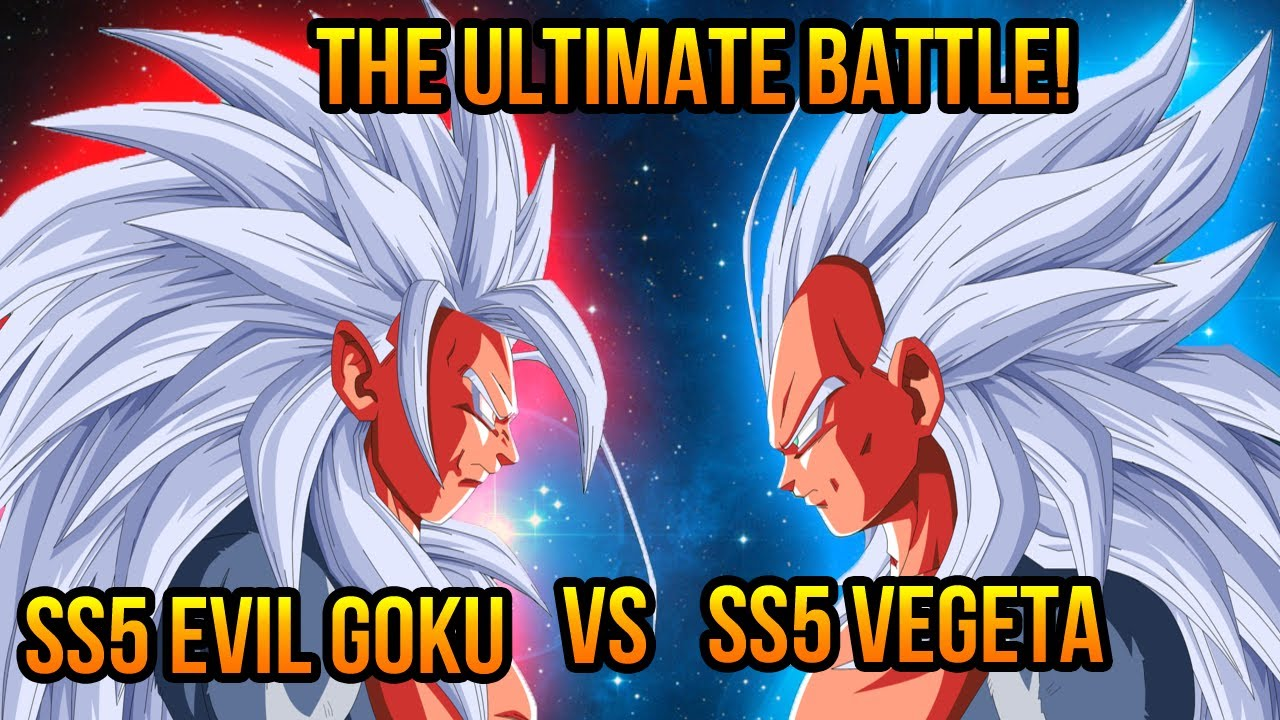 Dragon Ball Z AF Super Saiyan 5 Evil Goku VS Vegeta