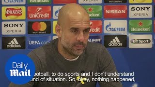 Pep Guardiola on Liverpool fans throwing bottles