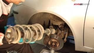 FIAT Punto 188 - FRONT - Передние амортизаторы KYB установка
