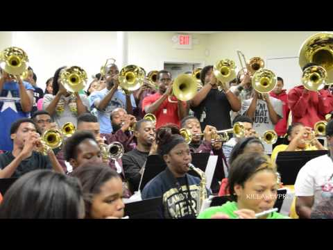 Talladega College Marching Band - Give Me the Night (Band Room) - 2015