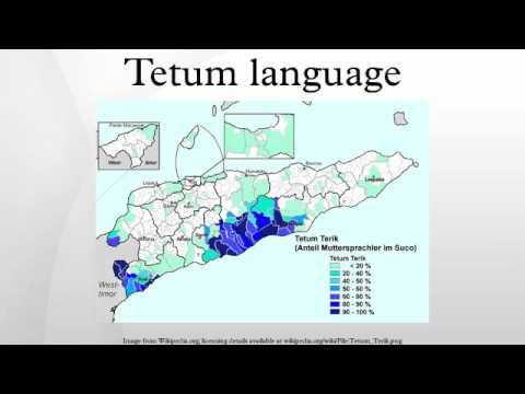 Tetum language