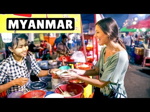 MYANMAR STREET FOOD TOUR in Yangon | Delicious Shan Noodles