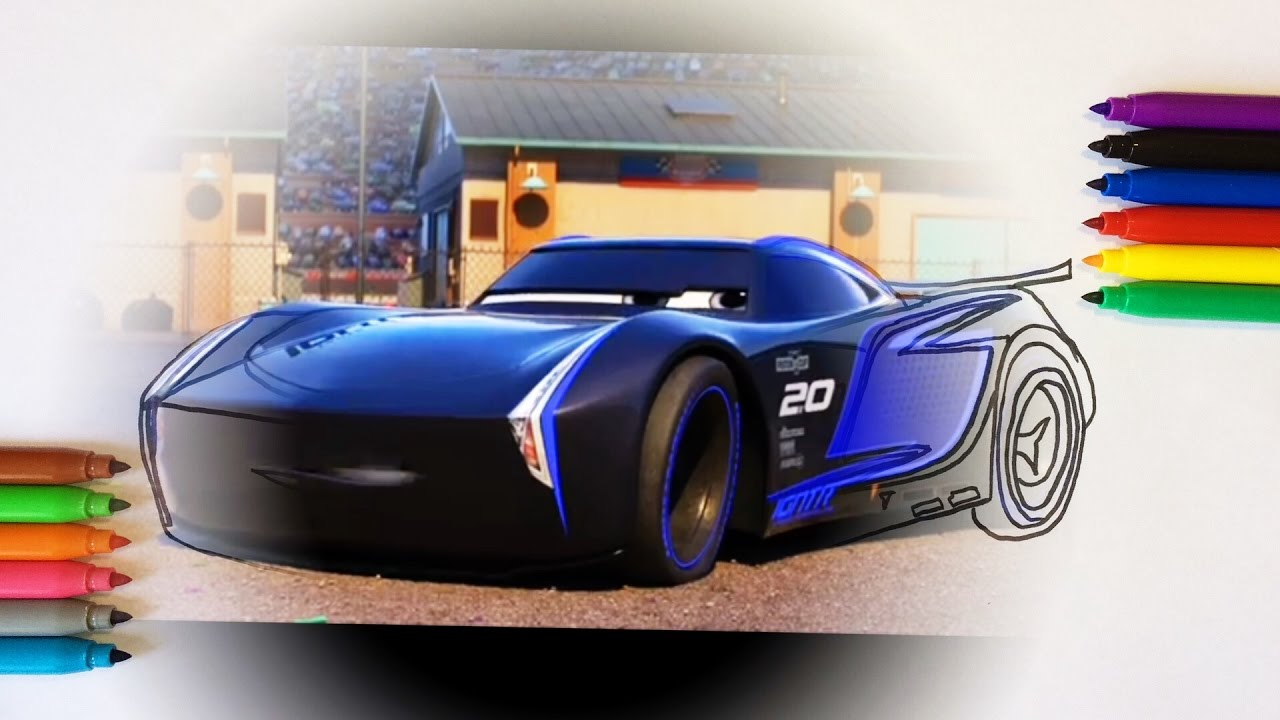 cars 3 jackson storm coloring pages for children with color kids tv youtube. Black Bedroom Furniture Sets. Home Design Ideas