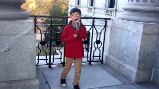 Treat You Better sing by 8 year old boy