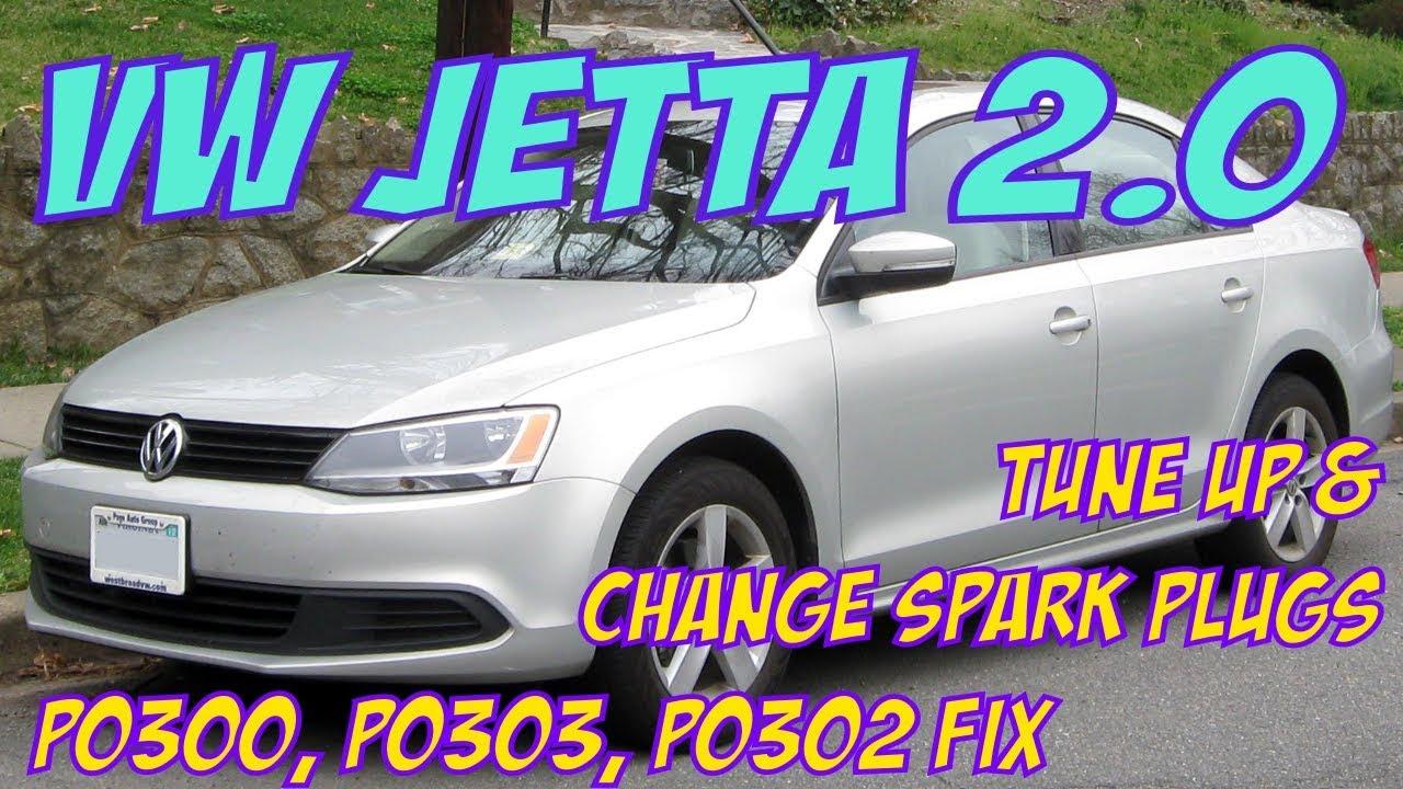 VW Jetta Spark Plug Replacement  Tune up Pt 2  P0300, P0302, P0303 FIX