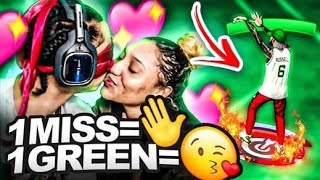 UGLY JUMPSHOT BLINDFOLDED CHALLENGE 1 Miss = 1 Smack 1 Green = 1 Kiss NBA 2K21
