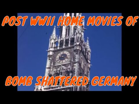 POST WWII HOME MOVIES OF BOMB SHATTERED GERMANY 71262