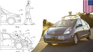 Google patents adhesive layer on self-driving cars that sticks pedestrians on hood - TomoNews