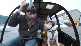 WATCH: Guy Takes His Bulldog On A Helicopter Ride For His Birthday
