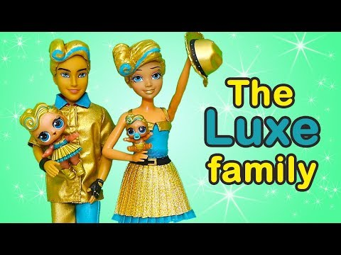 LOL Families ! The Luxe Family Plays Hide & Seek   Toys and Dolls Fun Opening LOL Under Wraps  SWTAD