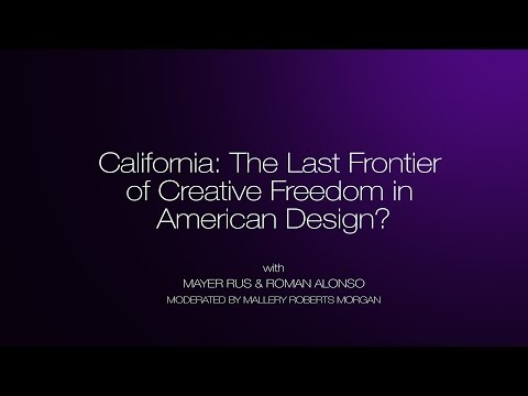 "DIEM 2014: ""California: The Last Frontier of Creative Freedom in American Design?"" Video Panel"