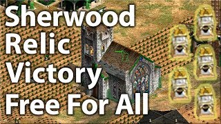 AoE2 Sherwood Relic Victory Free For All!