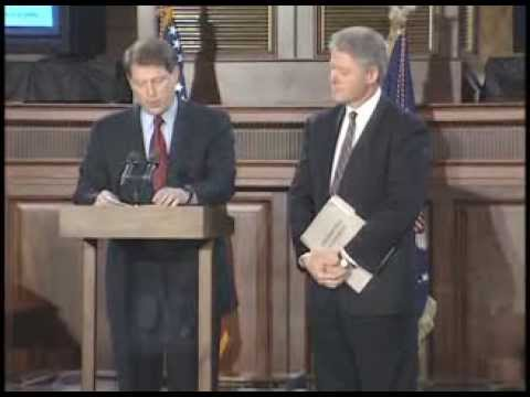 President Clinton Signing Telecommunications Act of 1996