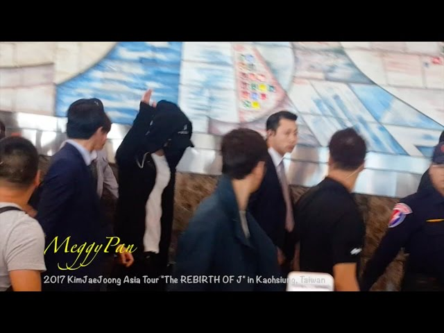 [FanCam] 김재중 金在中 at Kaohsiung International Airport (20170331)