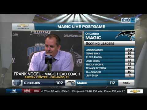 Frank Vogel – Memphis Grizzlies at Orlando Magic 12/26/2016