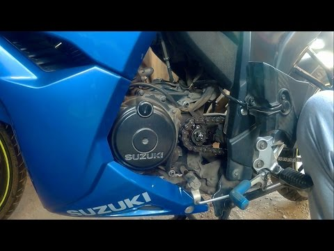 How To Clean & Lube Chain Sprocket Of Gixxer 155 & SF