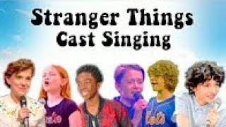 STRANGER THINGS KIDS REAL VOICE SINGING COMPILATION!