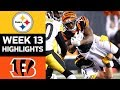 Steelers vs. Bengals | NFL Week 13 Game Highlights