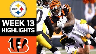 Steelers vs. Bengals | NFL Week 13 Game Highlights thumbnail