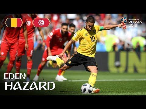 Eden HAZARD Goal 1 - Belgium v Tunisia - MATCH 29