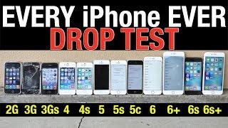 iPhone 5C - iPhone 6S Plus vs 6S vs 6 Plus vs 6 vs 5S vs 5C vs 5 vs 4S vs 4 vs 3Gs vs 3G vs 2G Drop Test!