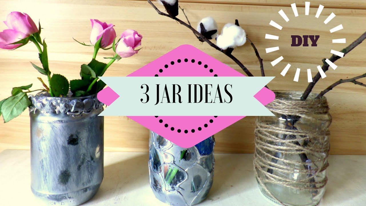 DIY 16 Recycling Jar Ideas  Jar Crafts for Home Decor  by Fluffy Hedgehog