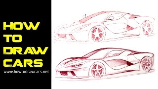 Car Design Drawings - Secrets to Improving Your Line Quality Pt 1