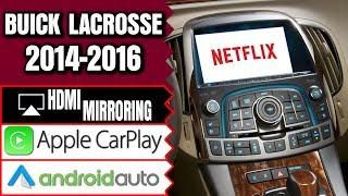 Buick LaCrosse 2014-2016 Navigation Intellilink Video Interface Apple CarPlay Smartphone Mirroring