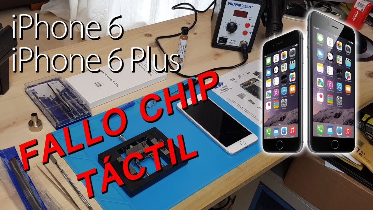 ff79d368bdb iPhone 6 y iPhone 6 Plus reparación chip táctil (reflow) - Enfermedad del  iPhone