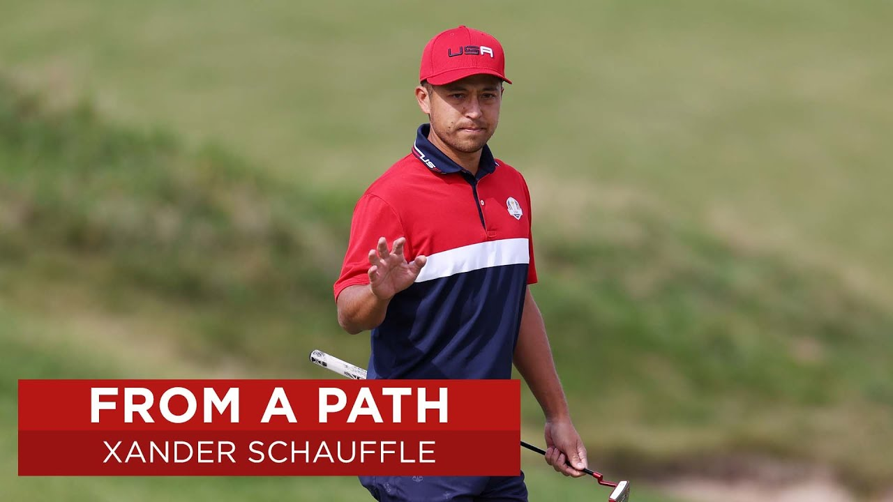Xander Schauffele Gets Up and Down from a Path   2020 Ryder Cup