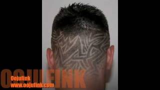 oojufink hair just tram lines etching techno