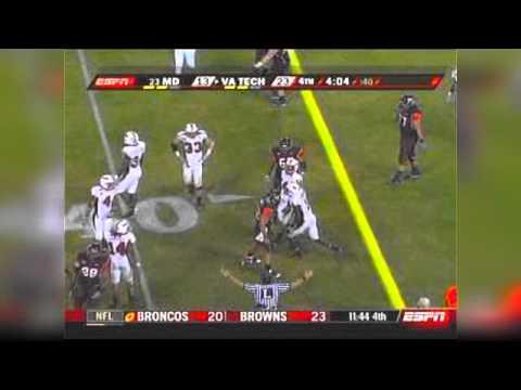 11/6/08: Virginia Tech Hokies vs. Maryland Terrapins: Darren Evans vs. Terrell Skinner