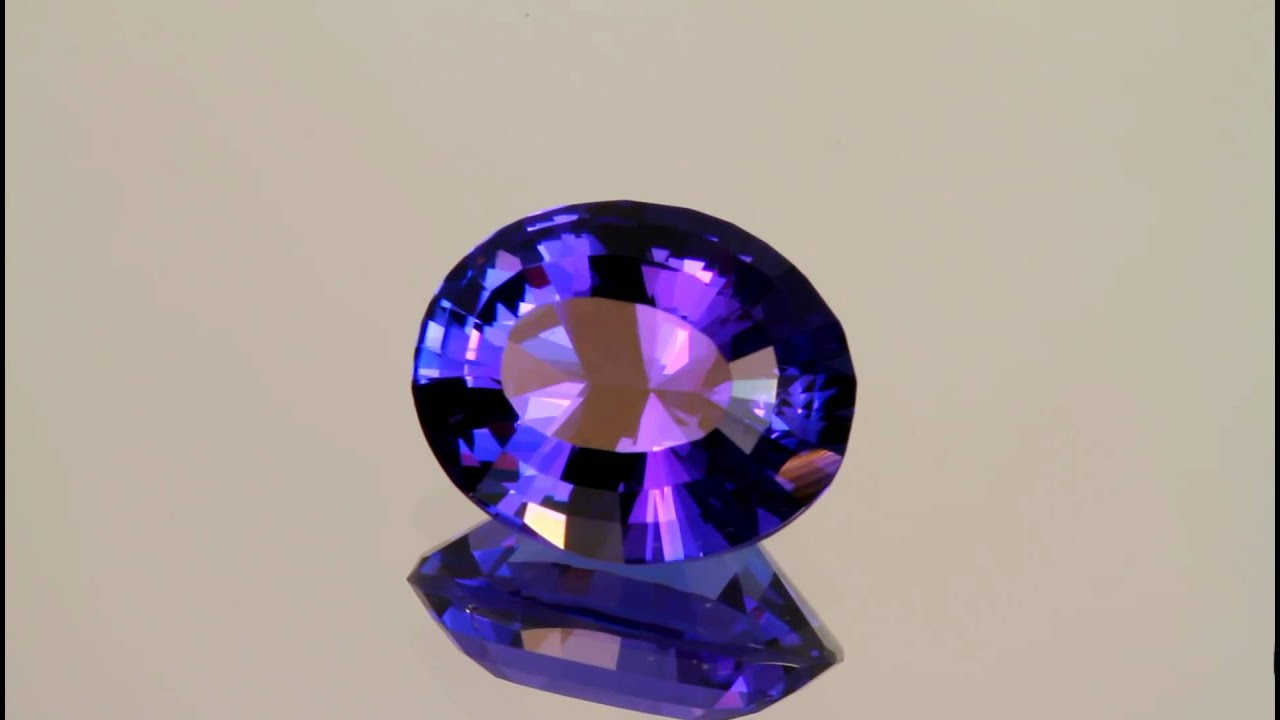 the crystal tanzanite of a hills meralani generation gemstone authentic
