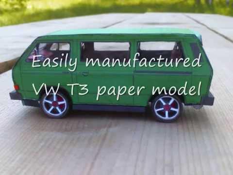 paper model vw t3 youtube. Black Bedroom Furniture Sets. Home Design Ideas