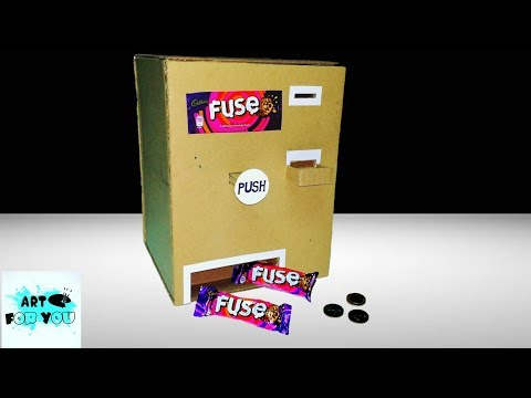 How to make Cadbury Fuse chocolate vending machine | Cadbury Vending Machine | Cardboard Project