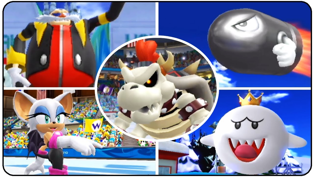 mario sonic at the olympic winter games all bosses. Black Bedroom Furniture Sets. Home Design Ideas