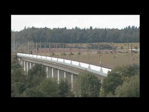 Zugverkehr auf der SFS Mannheim-Stuttgart