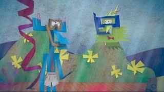 Мультфильм про оригами - Радужное озеро - новая серия 33