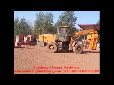 Loader Type Uploading Brick Machine Running at Site