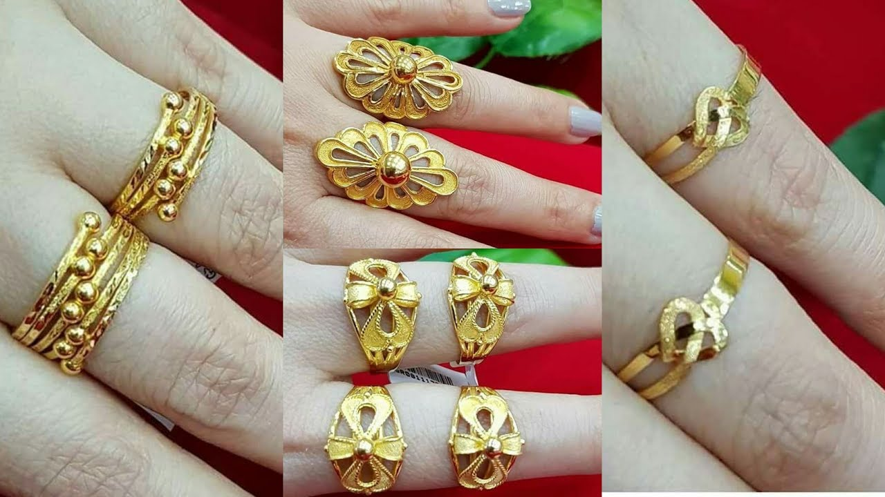 Pure Gold Finger Rings Designs - YouTube