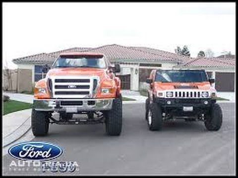 Silverado Vs F150 >> Ford F650 vs Hammer H1 H2 - YouTube