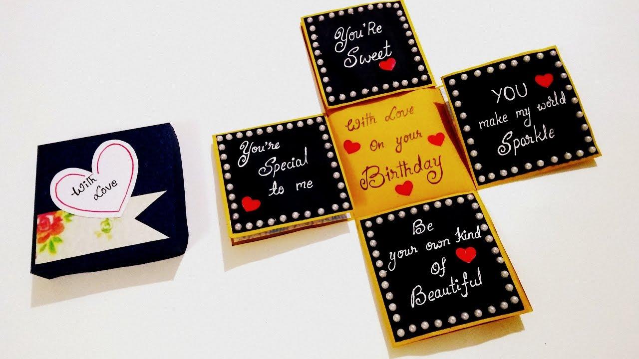 Beautiful Birthday Card Idea Handmade Birthday Card How To Make Birthday Card Tutorial Youtube