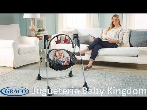 31e0cfa4b Columpio silla mecedora automatica de bebe Graco Swing By Me Jugueteria Baby  Kingdom