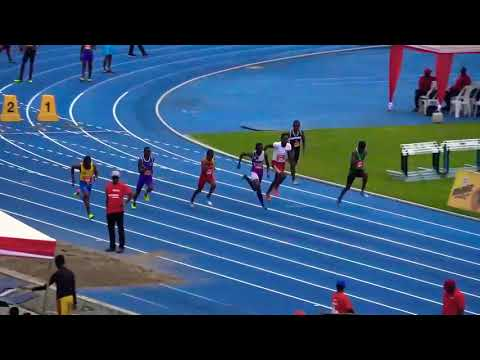 Richard Nelson Aka Young plane of Clarendon College 100m race 2018